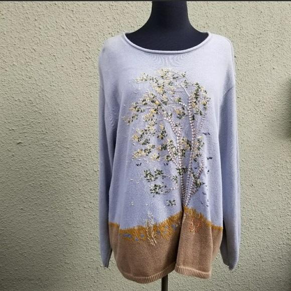 Liz Claiborne Sweaters - Elizabeth by Liz Claiborne Fall Scene Sweater Plus